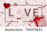 festive banner for happy...   Shutterstock .eps vector #754374631