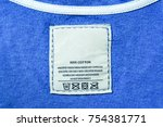 clothing label with laundry... | Shutterstock . vector #754381771
