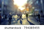 crowd of anonymous people... | Shutterstock . vector #754385455