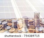 monetary stacking is an... | Shutterstock . vector #754389715