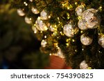 close up mirror ball or... | Shutterstock . vector #754390825