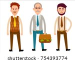 three men of different looks... | Shutterstock .eps vector #754393774