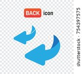 bounce back. flip over or turn... | Shutterstock .eps vector #754397575