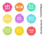 hot sale new big deal special... | Shutterstock .eps vector #754399864