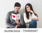 love  relationships  holidays ... | Shutterstock . vector #754400347