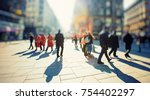 crowd of anonymous people...   Shutterstock . vector #754402297
