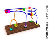 Colorful developmental toy isolated - stock photo