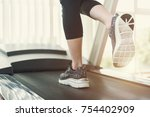 healthy and fitness concept.... | Shutterstock . vector #754402909