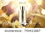 elegant essence ads  golden... | Shutterstock .eps vector #754411867