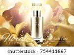 elegant essence ads  golden... | Shutterstock .eps vector #754411867
