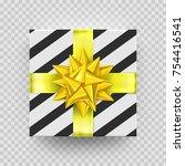 christmas gift box or present... | Shutterstock .eps vector #754416541
