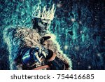 halloween. the king zombie... | Shutterstock . vector #754416685