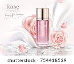 rose toner ads  elegant... | Shutterstock .eps vector #754418539