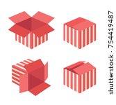 red carton   gift box icons....