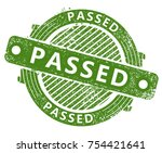 passed rubber stamp | Shutterstock .eps vector #754421641