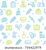 medicine symbols and signs... | Shutterstock .eps vector #754422979