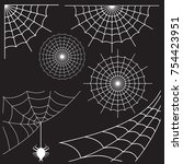 spider webs icons | Shutterstock .eps vector #754423951