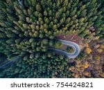 overhead aerial top view over... | Shutterstock . vector #754424821