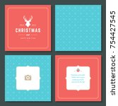 christmas greeting card vector...   Shutterstock .eps vector #754427545