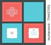 christmas greeting card vector...   Shutterstock .eps vector #754427551