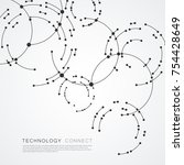 vector points connecting... | Shutterstock .eps vector #754428649