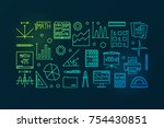 mathematics vector colorful...   Shutterstock .eps vector #754430851