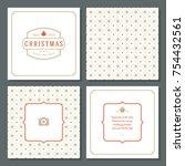 christmas greeting card vector...   Shutterstock .eps vector #754432561