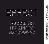 modern abstract font and... | Shutterstock .eps vector #754433689