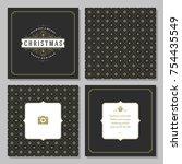 christmas greeting card vector...   Shutterstock .eps vector #754435549