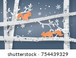 illustration of winter season... | Shutterstock .eps vector #754439329