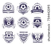 soccer club or football league... | Shutterstock .eps vector #754442095