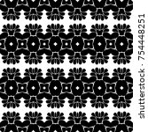 black and white pattern with... | Shutterstock . vector #754448251