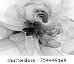 abstract fractal background... | Shutterstock . vector #754449169