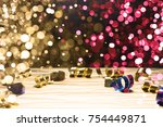 red  gold  blue ribbons... | Shutterstock . vector #754449871