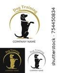 Dog Begging Logo On White....