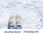 stylish shoes beautiful legs in ... | Shutterstock . vector #754456195