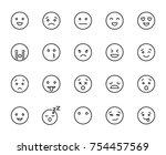 modern outline style emoji... | Shutterstock .eps vector #754457569