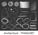 doodle style sketched frames ... | Shutterstock .eps vector #754462387