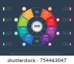 business presentation concept...   Shutterstock .eps vector #754463047