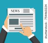 news words  coffee break  lunch ... | Shutterstock .eps vector #754463224