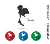 vector map thailand.  flat... | Shutterstock .eps vector #754469539