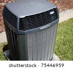 High efficiency modern AC-heater unit, energy save solution- - stock photo