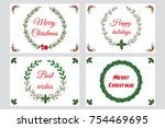 christmas greeting cards ... | Shutterstock .eps vector #754469695