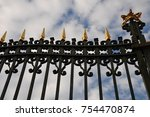 abstract of decorative iron... | Shutterstock . vector #754470874