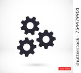 vector icon gear mechanism 10... | Shutterstock .eps vector #754479901