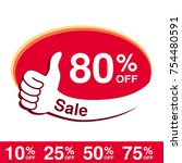 vector special sale offer. red... | Shutterstock .eps vector #754480591
