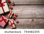 merry christmas. decoration for ... | Shutterstock . vector #754482355