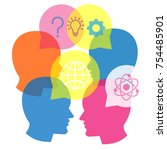 business communication symbol ... | Shutterstock .eps vector #754485901