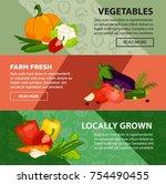 fresh vegetables locally grown... | Shutterstock .eps vector #754490455