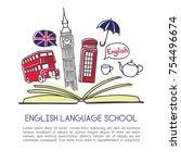 vector illustration english... | Shutterstock .eps vector #754496674